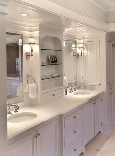 Traditional Master Bathroom with Signature Hardware 18 Oval Undermount Bathroom Sink, Master bathroom, Raised panel, Flush Dream Bathrooms, Beautiful Bathrooms, Modern Bathroom, Small Bathroom, Classic Bathroom, Master Bathrooms, Bad Inspiration, Bathroom Inspiration, Bathroom Renos