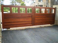 custom wooden driveway gate 130
