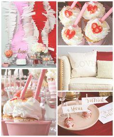 Pink + Red Love Themed Bridal Shower via Kara's Party Ideas KarasPartyIdeas.com #bridalshowerideas #loveparty #redandpinkparty #vday #valentinesparty (2)