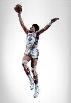 Julius Erving RareInk NBA