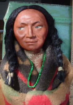 Very Rare Old Woman Skookum Indian, Native American Doll/1920's-1930's