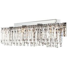 Possini Euro Design Hanging Crystal 33 3 4 Wide Bath Light