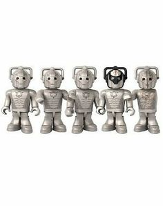 Doctor Who Dr 5 Cyberman Collector Set by Underground Toys. $15.80. 5 Micro-Figures with display bases included. Doctor Who Dr 5 Cyberman Collector Set. DELETE! The Cybermen were originally human beings, but gradually they replaced their weak mortal flesh with metal and plastic. In the process they lost their compassion, along with all other emotions. Cybermen seek to 'delete' all who stand in their way, and can electrocute with their touch. Re-create epic battles with ...