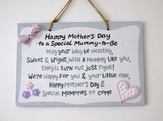 Mummy-to-be on mothers day. First Mother's Day. Gift for expecting mum. Hand-pai… Mummy-to-be on mothers day. First Mother's Day. Gift for expecting mum. Happy mother's day to a special mummy-to-be. First Mothers Day Gifts, Mothers Day Special, Happy Mother S Day, Gifts For Mom, Pregnant Mother, Pregnant Wife, Perfect Mother's Day Gift, School Signs, Mother's Day Diy