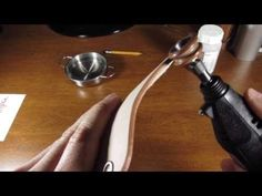how to burnish leather the faster and easier way - YouTube