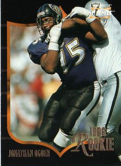 ogden ravens football card   RAVENS - Jonathan Ogden #153 Pinnacle Summit 1996 American Football ...