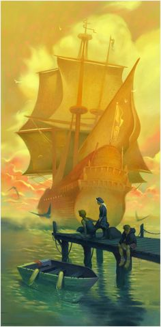 The Arrival by Matthew Howley (There's that NC Wyeth Ship again :)