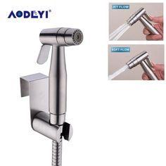 AODEYI Two Function Toilet Hand Held Bidet Diaper Sprayer Shower Shatter Bidet Spray Douche Kit Jet 304 Stainless Steel Shower Item specifics: Brand Name: AODEYI Faucet Tapping: 2 Holes Spray Type: Horizontal Tap hole: Bathroom Renovation Cost, Bidet Toilet Seat, Diy Gifts For Him, Shower Set, Bathroom Fixtures, Stainless Steel, Small Bathroom, Bath, Full Bath