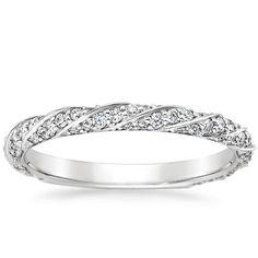 18K White Gold Cordoba Diamond Ring, top view I FOUND MY WEDDING BAND. Not joking. This is it!!!!