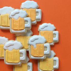 Cookies decorados pela designer Holly Fox;