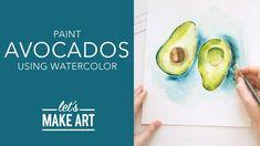 Let's Make Art, Watercolor Paintings, Watercolour, Box Art, Avocado, The Creator, Let It Be, Youtube, Food