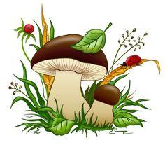 "Photo from album ""Клипарт грибы"" on Yandex. Mushroom Crafts, Mushroom Art, 2 Clipart, Cute Clipart, Art Fantaisiste, Mushroom Drawing, Murals For Kids, Art Drawings For Kids, Learn To Paint"