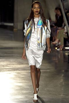 Jonathan Saunders Spring 2013 London runway Fashion with iridescent metallics