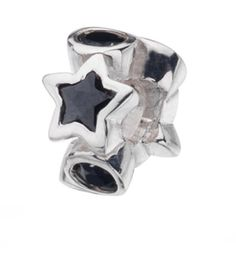 Virtue Silver Black Cubic Zircone Star & Circle Bead Virtue…