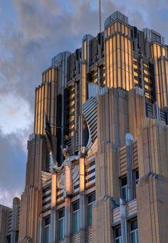 USA, New York, Syracuse, The Niagara Mohawk Building