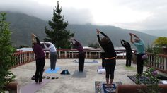 One of the more beautiful yoga sessions in Pokhara between adventure activities! #gettingfitinnepal