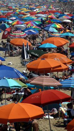 Typical beach view at Ocean City MD