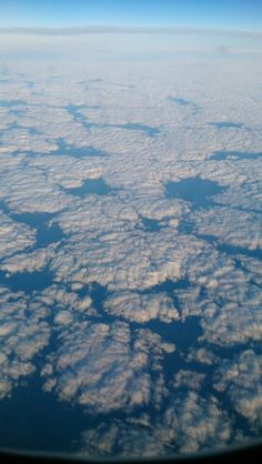 Clouds seen from the sky