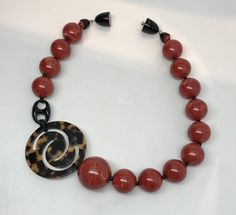 Fabulous Angela Caputi Resin Swirl Beads & Tortoise Lucite Necklace by GlamEpoque on Etsy https://www.etsy.com/il-en/listing/525456582/fabulous-angela-caputi-resin-swirl-beads