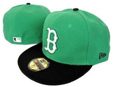 BOSTON RED SOX NEW ERA 59FIFTY FITTED GREEN/BLACK HAT ID1142