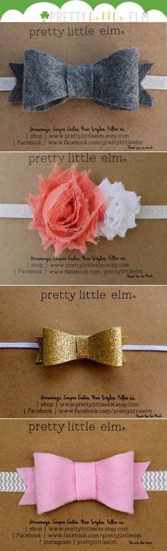 Pretty Little Elm little girl headbands.