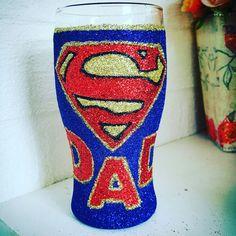 Super Dad Glitter Pint Glass