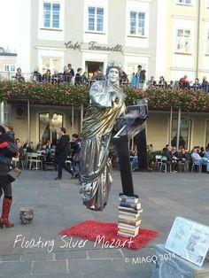 Floating Silver Mozart #Salzburg #Mozart