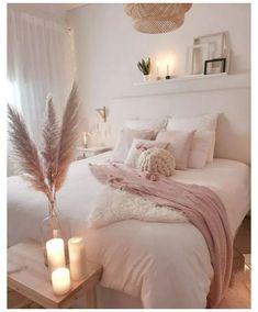 White Bedroom Decor, Room Ideas Bedroom, Cozy Bedroom, Home Decor Bedroom, Modern Bedroom, Bedroom Lamps, Wall Lamps, Bedroom Lighting, Master Bedroom