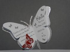 Faire part naissance papillon tout en éclat : Autres papeterie par scrap83