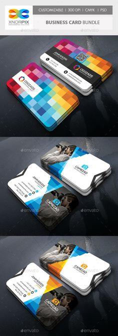 Business Card Bundle - #Corporate #Business #Cards Download here: https://graphicriver.net/item/business-card-bundle/18822861?ref=alena994