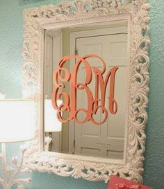 #uppercaseliving #vinyl #monograms look stunning on this mirror! #decor8life