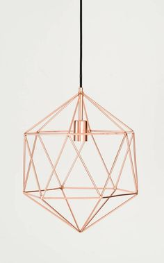 Geometric details combine in this on-trend wire frame pendant. We love the gem-inspired feel of the fixture and see it finishing off a kitchen island or vanity mirror nicely. Home Decor Colors, Colorful Decor, Home Decor Accessories, Decorative Accessories, Kitchen Accessories, Rose Gold Bedroom Accessories, Rose Gold Rooms, Rose Gold Decor, Deco Rose