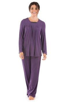 Womens Pajama Set Eco Freindly Clothing (Tranquility); Bamboo Viscose Jersey Sleepwear by TexereSilk - A Comfortable Christmas Gift Guaranteed to Wow the Recipient!! ♥