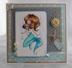 My Crafty Heart: Saturated Canary - Pearl, a Mermaid...