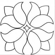 Four Tulips - Tulpen Applique Patterns, Applique Quilts, Applique Designs, Quilting Designs, Flower Patterns, Quilt Patterns, Embroidery Designs, Applique Templates, Quilt Design