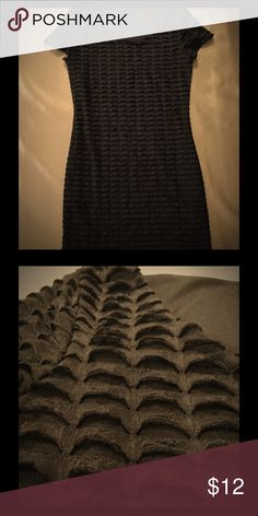 Black body con t-shirt dress Material: polyester. Lined with ruffle type detailing. Worn once. Dresses Mini