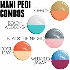 @ Joy Nails, Beauty Nails, Cute Nail Polish, Nail Polish Colors, Mani Pedi, Manicure And Pedicure, Pedicures, Nail Color Combinations, Fall Nail Art Designs