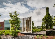 Gallery of Notariaat - Continuous Landscape / Atelier Vens Vanbelle - 3 Contemporary Architecture, Landscape Architecture, Interior Architecture, Wood Cafe, External Cladding, Woodland House, Metal Facade, Mirror House, Mirror Art