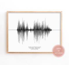 Custom SoundWave, Sound Wave Art Print, Custom Soundwave, Voice Art, Song Art, Sound Art, Last minute Gifts Sound Art, Nature Sounds, Wave Art, Gsm Paper, Framed Prints, Art Prints, Sound Waves, Last Minute Gifts, Boyfriend Gifts