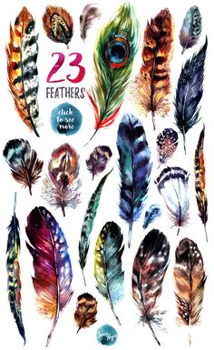 ☘ Welcome to The Southpaw Art Shop! Feather Drawing, Watercolor Feather, Feather Painting, Feather Art, Feather Tattoos, Bird Feathers, Watercolor Paintings, Watercolours, Feather Wreath