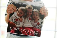 Pretty sweet Father's Day gift - a book personalized with pics and quotes from the fam. Way better than a tie.