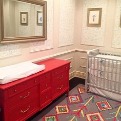 It's so fun to see our pieces in your homes! Jen Lukas so excited for you to be . It's so fun to s Red Painted Furniture, Custom Furniture, Furniture Design, Nursery Design, Nursery Decor, Nursery Ideas, Getting Ready For Baby, Furniture Inspiration, Furniture Ideas