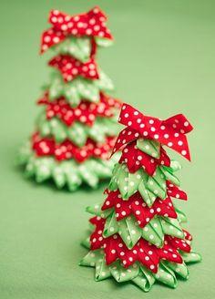 Ribbon Tree And Craft Ideas Festive Ribbon Christmas Trees