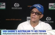 Jean-Claude Van Damme Splits When An Australian TV Interview Bored Him With Dumb Questions  Here's a simple lesson for all of us celebrity interviewers out there: if you're going to interview action film legend Jean-Claude Van Damme, you best come with the thunder. The '80s icon has been trying to bounce back in recent years, proving that a 55-year-old can still kick ass with the best of today's young punks, and his roles in films like  The Expendables 2  and  Kickboxer: Vengeance  h..