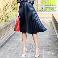 vertical striped skirt outfit - Buscar con Google