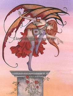 Fairy Art Artist Amy Brown: The Official Online Gallery. Fantasy Art, Faery Art, Dragons, and Magical Things Await. Unicorn Fantasy, Fantasy Dragon, Amy Brown Fairies, Redhead Art, Unicorns And Mermaids, Beautiful Fantasy Art, Fairy Dust, Magical Creatures, Faeries