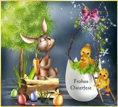 We wish you a happy Easter. Best regards Helga and Franz - Easter Day Easter Bunny Pictures, Cute Kids Pics, Just Magic, Hens And Chicks, Vintage Easter, Holidays And Events, Happy Easter, Smiley, Easter Eggs
