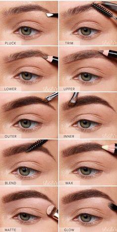 conseil maquillage pour un joli regard illuminé, comment maquiller ses sourcils pour leur donner une allure soignée mais naturelle