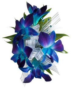 dendrobidium blue and purple corsage | Royer's flowers & gifts: Decorated Dendrobium Corsage, Blue - Flowers ...