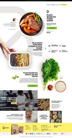 Belief - Startup de Marmitas Saudáveis - Web Design, UI, and UX Inspiration - Goodfood web Web Design Grid, Site Web Design, Best Website Design, Web Design Tutorial, Web Design Mobile, Page Design, Ui Design, Layout Design, Website Design Minimalist